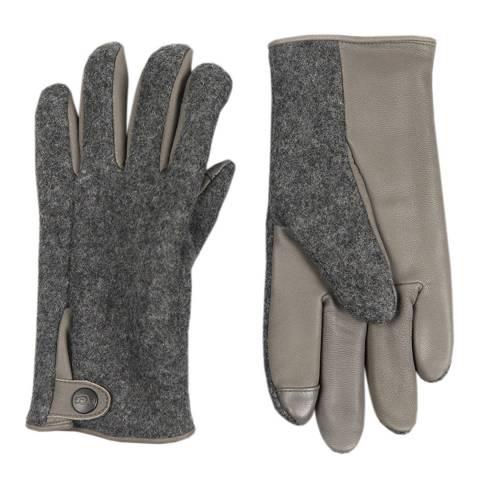 UGG Charcoal Snap Tab Fabric Tech Glove