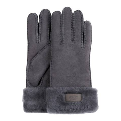 UGG Charcoal Turn Cuff Glove