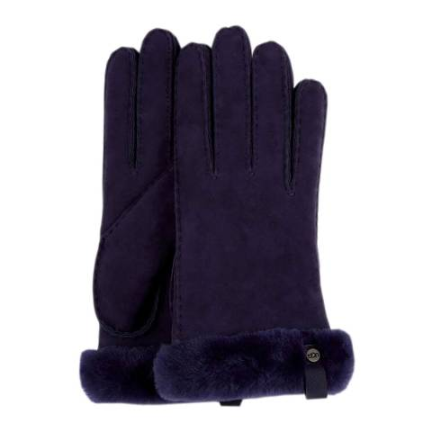 UGG Nightshade Shorty Glove w Leather Trim