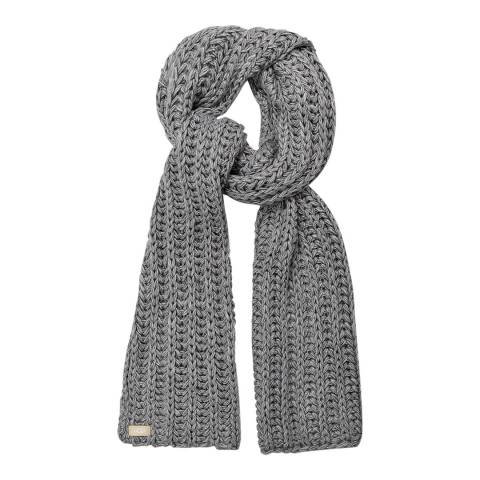 UGG Light Grey Chunky Knit Scarf