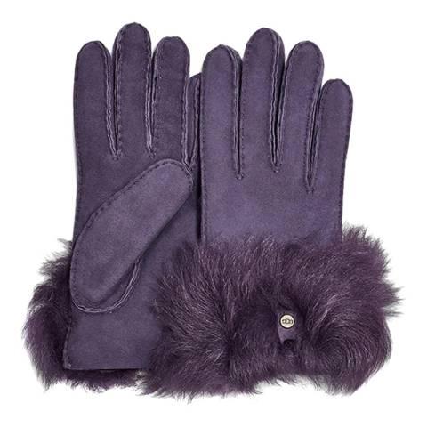 UGG Night Shade Long Pile Bow Gloves