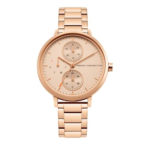French Connection Rose Gold Bracelet Watch