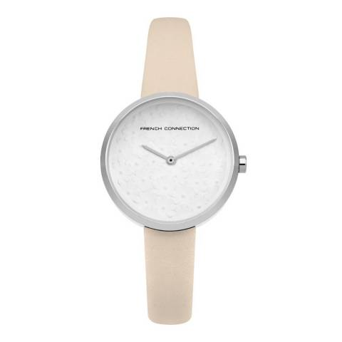 French Connection Nude Leather Strap Watch