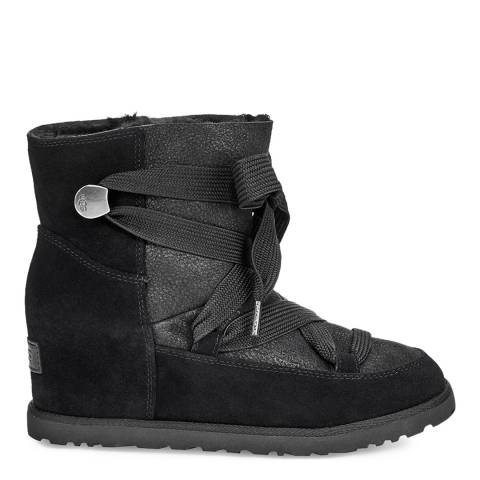UGG Black Classic Femme Lace Up Boot