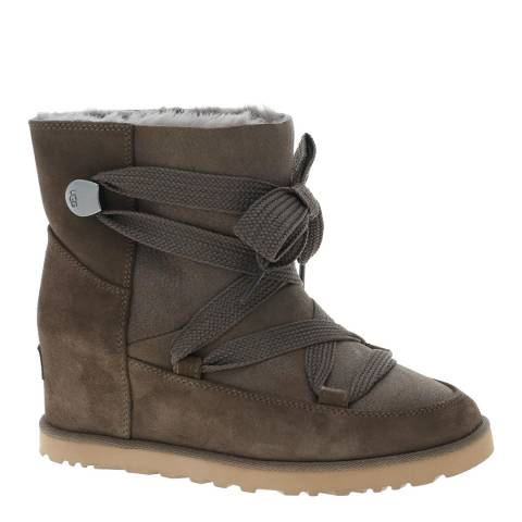 UGG Brown Classic Femme Lace Up Boot