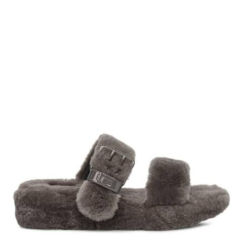 UGG Grey Fuzz Yeah Slippers