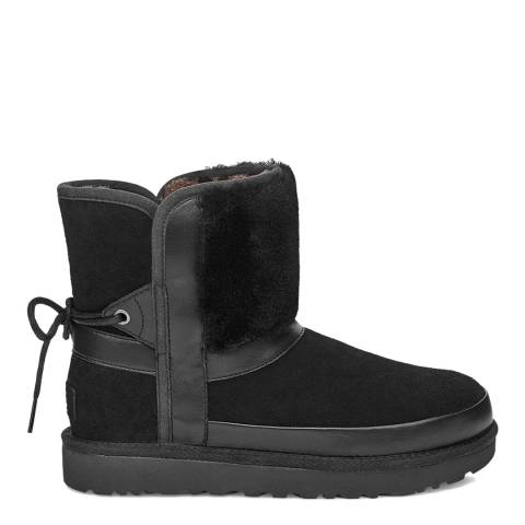 UGG Black Classic Leopard Lined Bow Boot