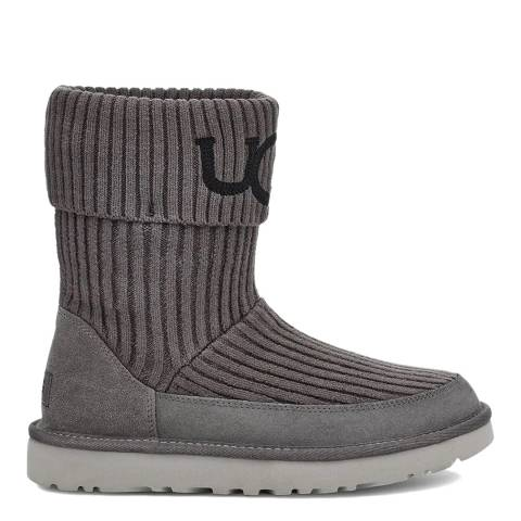 UGG Charcoal Classic UGG Knit Boot
