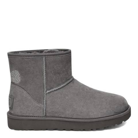 UGG Grey Crystal Classic Mini Boots