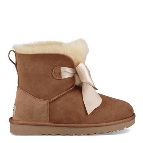 UGG Chestnut Gita Bow Mini Boot