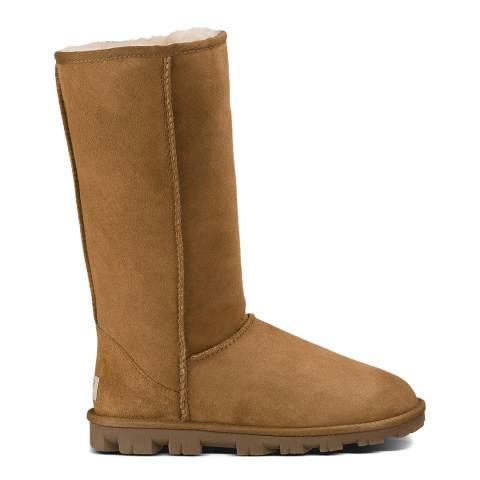 UGG Charcoal Leather Haldan Boots