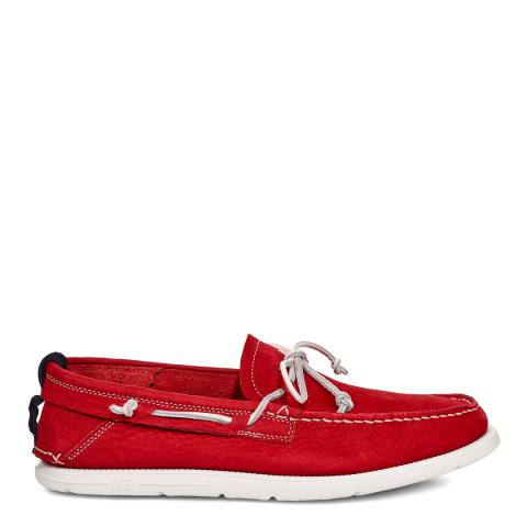 UGG Red Beach Moc Slip On Shoes