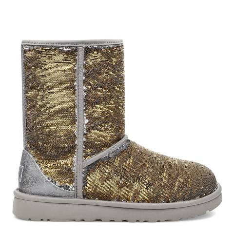 UGG Silver/Gold Classic Short Cosmos Sequin Boot