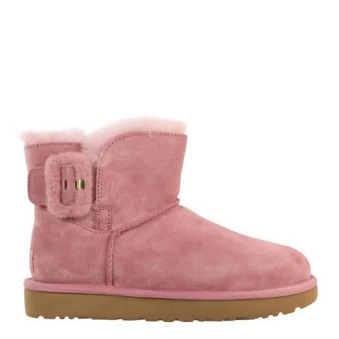 UGG Pink Mini Bailey Fluff Buckle Boot