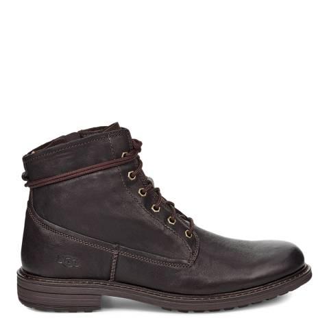 UGG Dark Brown Morrison Lace Up Boot