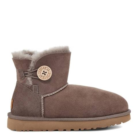 UGG Brown Mini Bailey Button II Boot