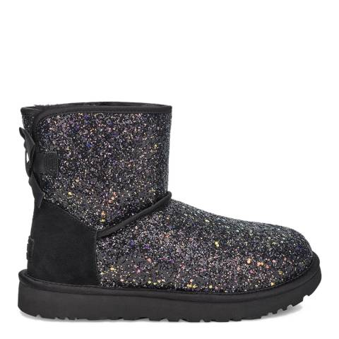 UGG Black Cosmos Bow Classic Mini Boots