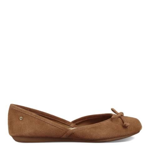 UGG Brown Lena Flat Shoes