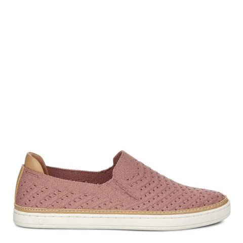 UGG Pink Sammy Metallic Chevron Sneaker