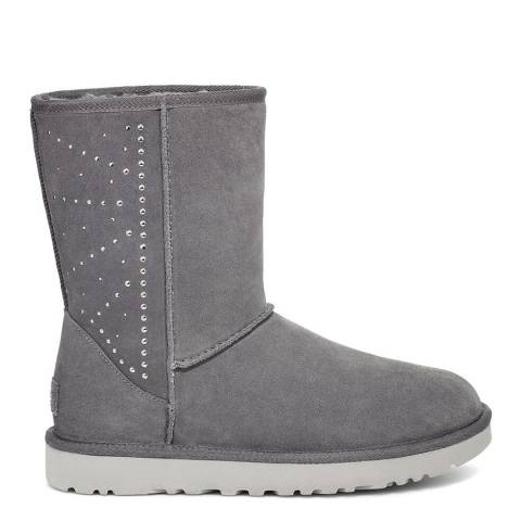 UGG Charcoal Classic Short Studded Boots