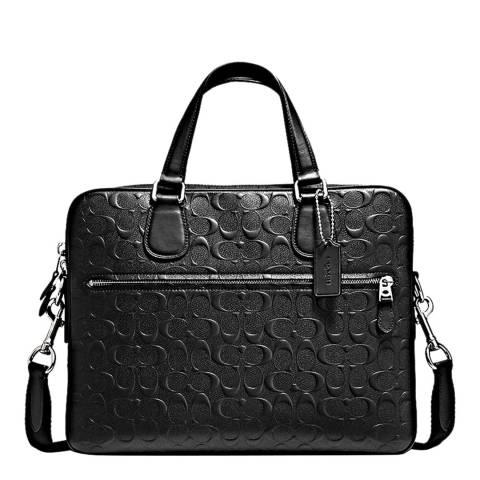 Coach Black Signature Hudson 5 Bag