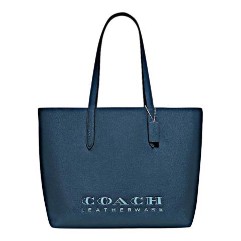 Coach Dark Blue Leather Highline Tote