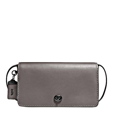 Coach Heather Grey Leather Dinky Crossbody