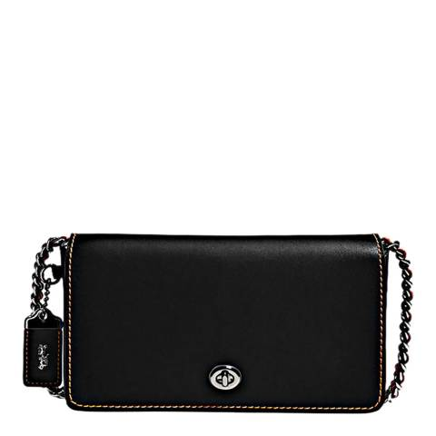 Coach Black Burnished Leather Dinky Crossbody