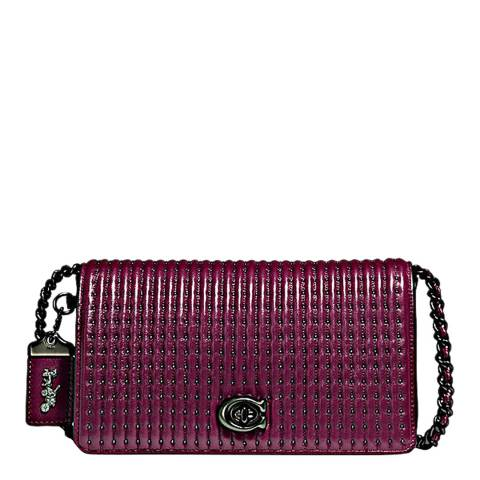 Coach Dark Berry Quilted Dinky Crossbody