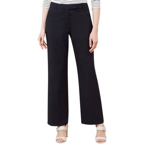 Hobbs London Navy Addison Stretch Trousers