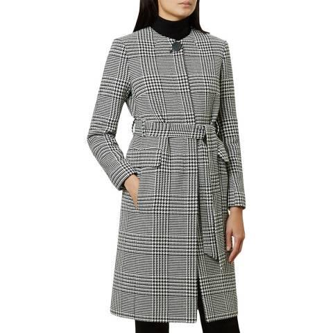 Hobbs London Black Check Samira Coat