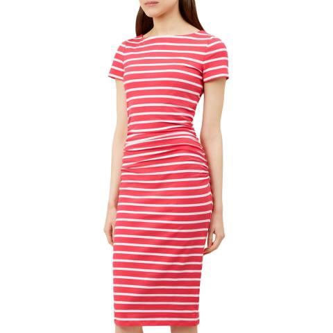 Hobbs London Pink Stripe Bridget Dress