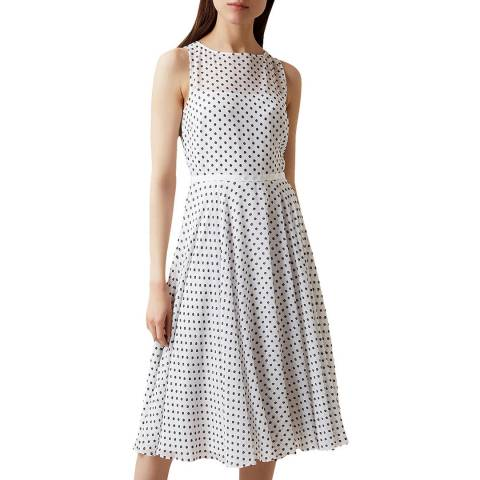 Hobbs London Ivory Polka Dot Della Dress