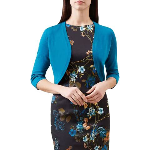 Hobbs London Blue Carrie Knit Bolero