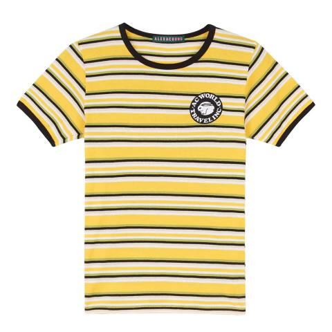 ALEXA CHUNG Yellow Stripe Ringer Cotton T-Shirt