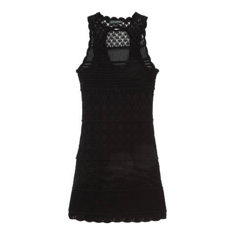 ALEXA CHUNG Black Patched Panel Cotton Blend Dress