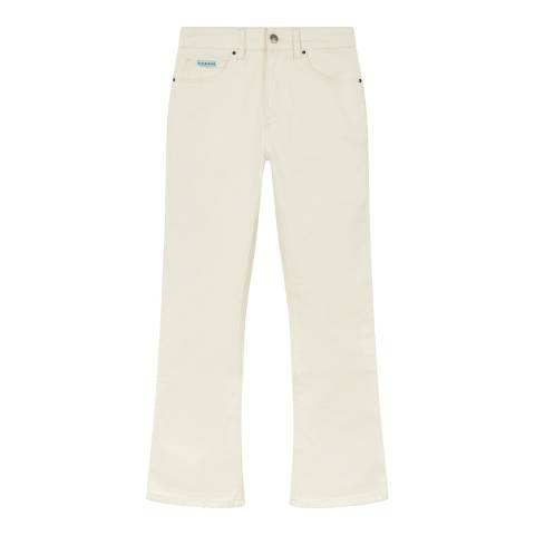 ALEXA CHUNG Ecru Flared Cotton Stretch Jeans
