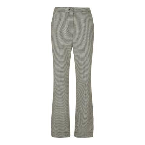 ALEXA CHUNG Black/White Tailored Wool Blend Trousers