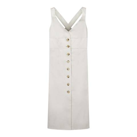 ALEXA CHUNG Pale Blue Pinafore Cotton Blend Dress