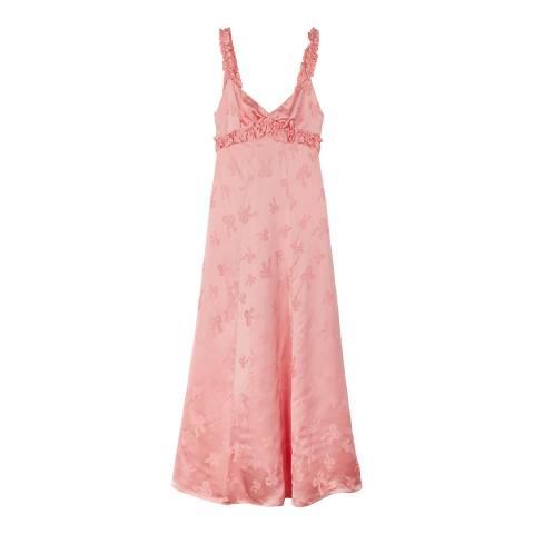 ALEXA CHUNG Pink Ruffe Trim Cami Dress