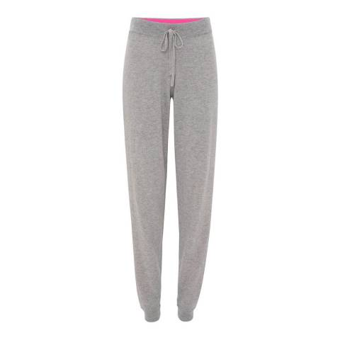 Cocoa Cashmere Grey Drawstring Fitted Cashmere Joggers