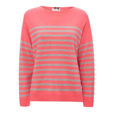 Cocoa Cashmere Pink Striped Cashmere Jumper