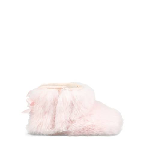 UGG Pink Jesse Bow II Fluff Boots