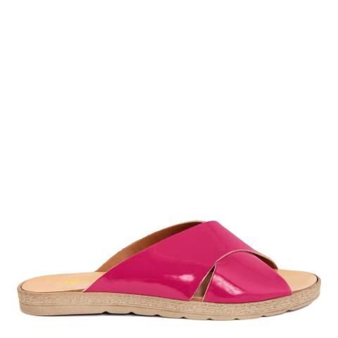 Gagliani Renzo Pink Patent Flat Sandals