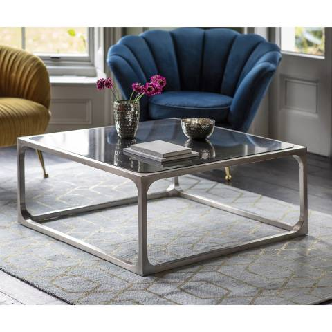 Gallery Roma Coffee Table, Pewter