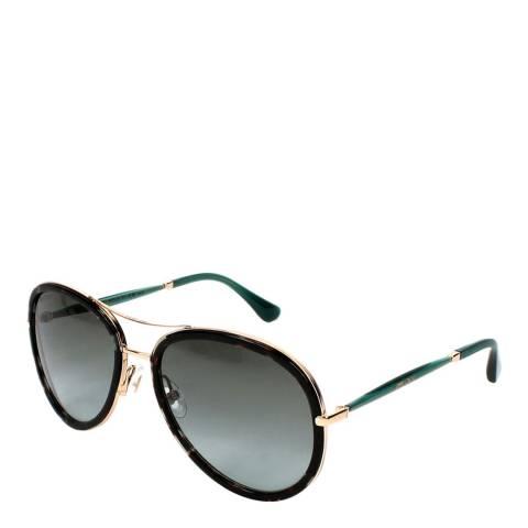 Jimmy Choo Women's Black/Green Jimmy Choo Sunglasses 57mm
