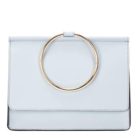 Giorgio Costa Pale Blue Leather Top Handle Bag