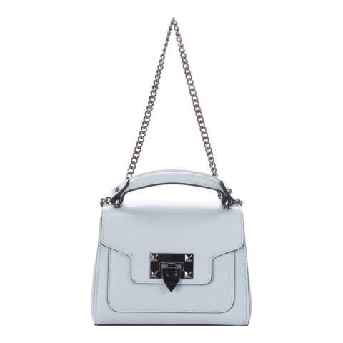 Lisa Minardi Pale Blue Leather Top Handle Bag