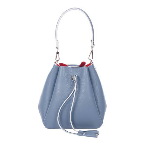 Giorgio Costa Blue Leather Bucket Bag