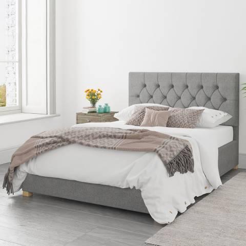 Aspire Furniture Olivier Grey Superking Eire Linen Ottoman Bed
